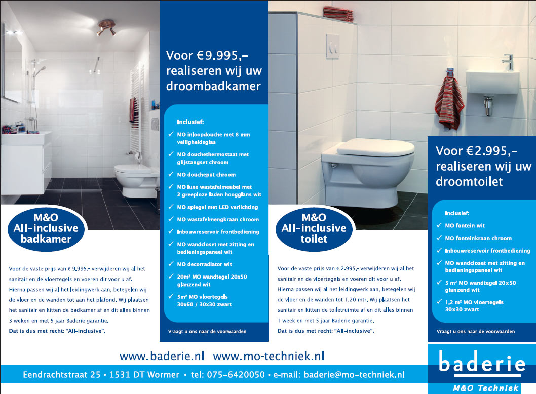 All In Badkamer : Aktie all inclusive badkamer all inclusive toilet m&o techniek