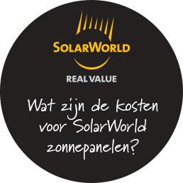 Kosten zonnepanelen van SolarWorld