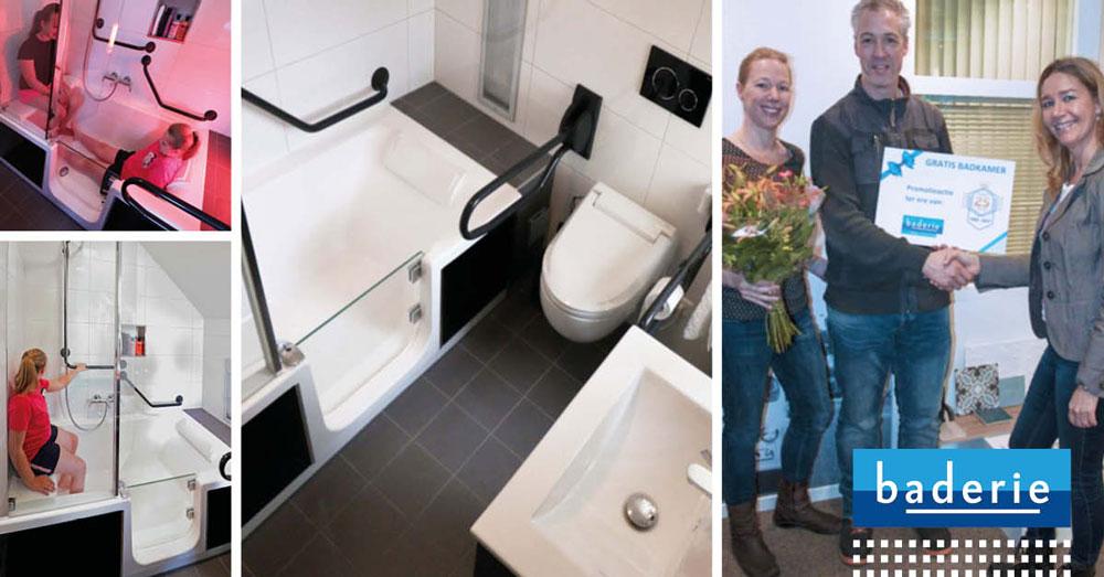 Badkamer met bad met lage instap